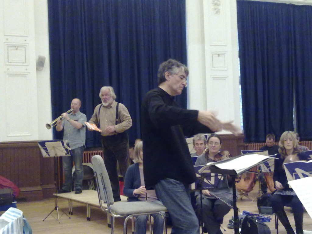 John Hancorn rehearsing with Sir John Tomlinson, Lewes Town Hall