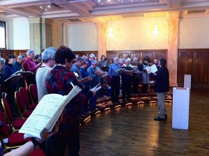 John Hancorn directs a workshop with the East Sussex Bach Choir